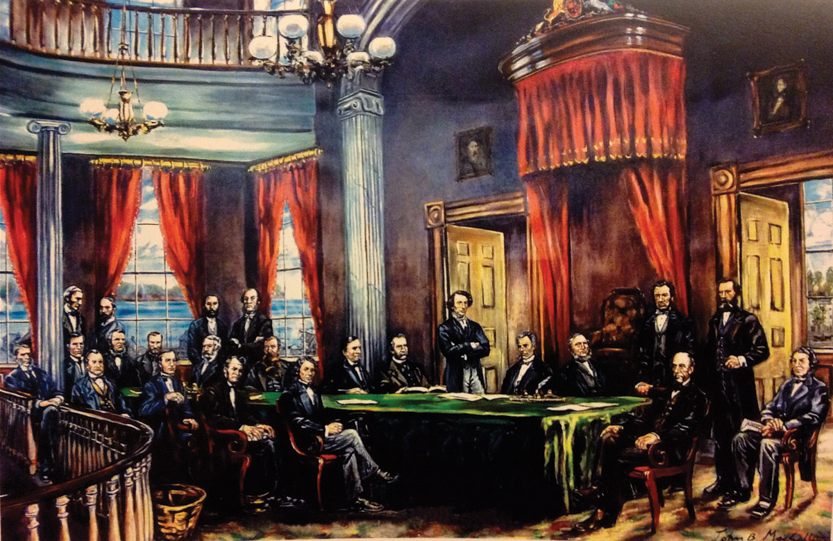 Painting: Fathers of Confederation 1864, by John Bradford MacCallum.