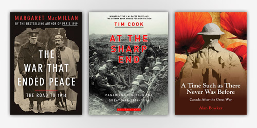 First World War Reading List: A selection of new and recent books about the Great War plus its causes and its consequences for Canada.