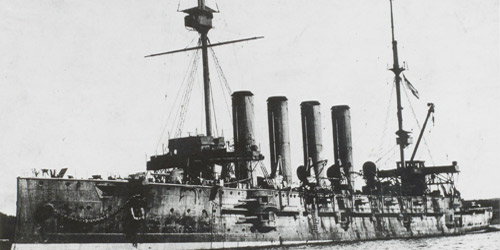 The HMS Niobe was the first ship in Canada's navy. Built in 1897, it served in the Boer War and was commissioned for action in the Great War in September 1910.