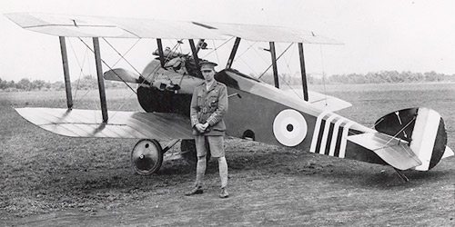 Manitoba's Billy Barker was a Canadian flying ace and the most decorated serviceman in the British Empire, earning numerous medals and battle honours, including the Victoria Cross.
