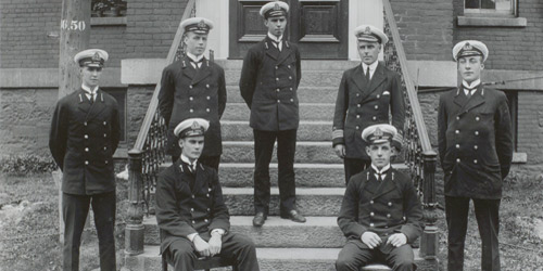 A group of Royal Naval College of Canada officer cadets circa 1913.